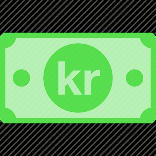 currency, denmark, dkk, kr, krone, money, price icon