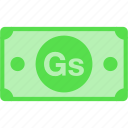 currency, gs, guarani, money, paraguay, price, pyg icon