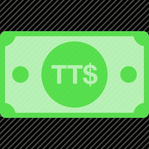 currency, dollar, money, tobago, trinidad, ttd icon