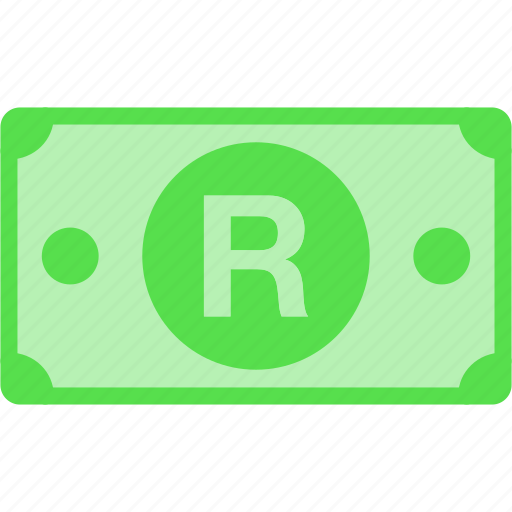 africa, currency, money, price, r, rand, south, zar icon