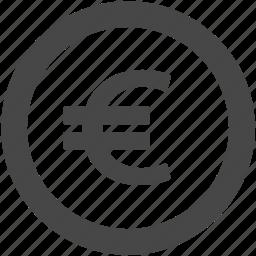 cash, currency, eur, euro, euro coin, financial, money icon