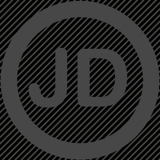 currency, dinar, jd, jod, jordanian, jordanian dinar, money icon