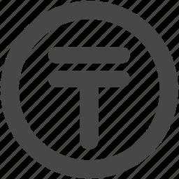 coin, currency, kazakh, kazakh tenge, kzt, money, tenge icon