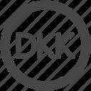 currency, danish krone, dkk, kroker, krone, kroner icon