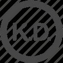 currency, dinar, kuwaiti, kuwaiti dinar, kwd, money icon