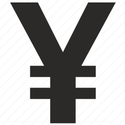 currency, yen icon