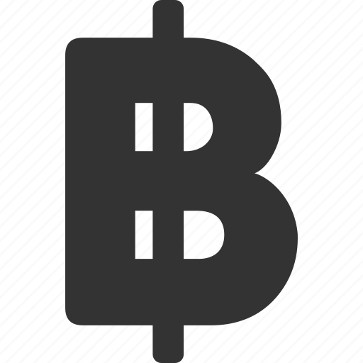baht, bitcoin, currency, finance, money, payment, price icon