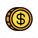 coin, money, dollar, cash, currency, finance, business