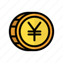 coin, money, yen, cash, currency, finance, business