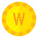 currency, coin, money, finance, won, south, korea