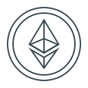cryptocurrency, eth, ethereum, money icon