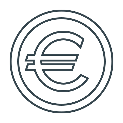 currency, eur, euro, money, sign icon