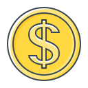 cent, coin, currency, dollar, usd, valuta icon