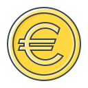 coin, currency, eur, euro icon