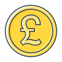 coin, currency, gbp, pound icon