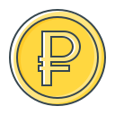 coin, currency, rub, ruble, valuta icon