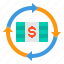 currency, cash, money, arrows, transfer icon