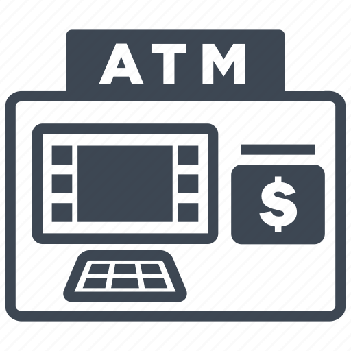 atm, atm machine, bank, machine, money, salary, withdraw icon