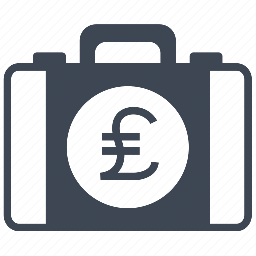 briefcase, business, buy, cash, money, pound, purchase icon