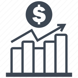 analysis, analytics, bar, chart, diagram, dollar, money icon