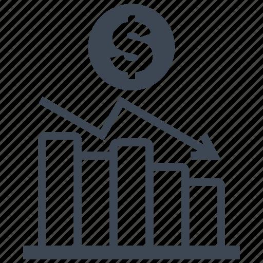 analysis, analytics, bar, chart, diagram, dollar, money icon