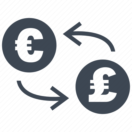 coin, conversion, convert, euro, exchange, pound, rate icon