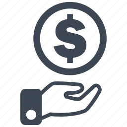 cash, currency, debit, dollar, loss, money, profit icon