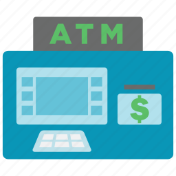 atm, bank, cash, machine, money, salary, withdrawal icon