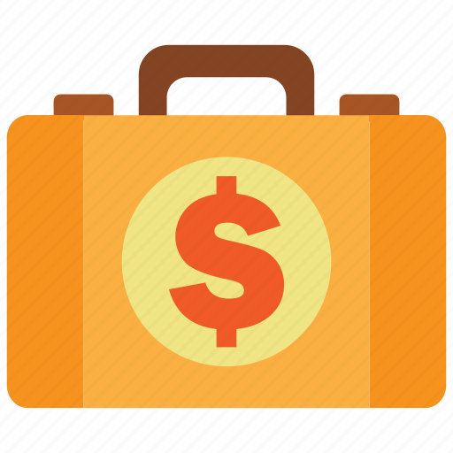 briefcase, business, cash, dollar, money, money bag, property icon
