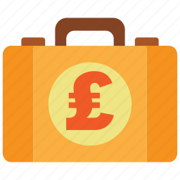 briefcase, business, cash, money, money bag, pound, property icon