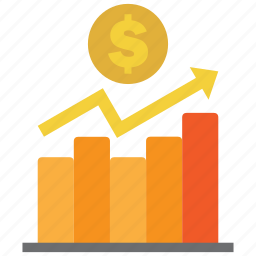 analysis, chart, coin, diagram, dollar, graph, money icon