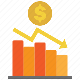 analysis, chart, coin, diagram, dollar, graph, money icon