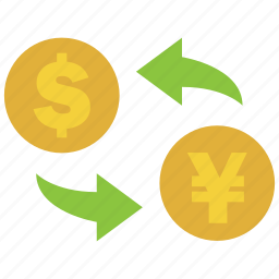 conversion, convert, dollar, exchange, rate, transfer, yen icon