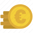 bank, cash, credit, currency, debit, euro, money icon