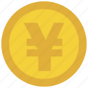 bank, cash, credit, currency, debit, money, yen icon