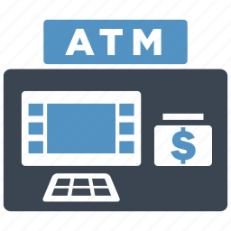 atm, banking, cash, machine, money, salary, withdraw icon