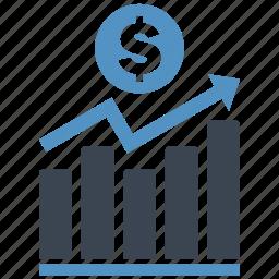 analysis, chart, diagram, dollar, graph, money, report icon
