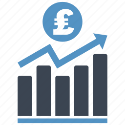 analysis, chart, diagram, graph, money, pound, report icon