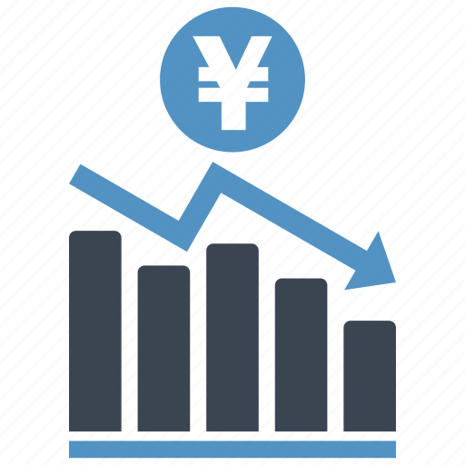 analysis, chart, diagram, graph, money, report, yen icon