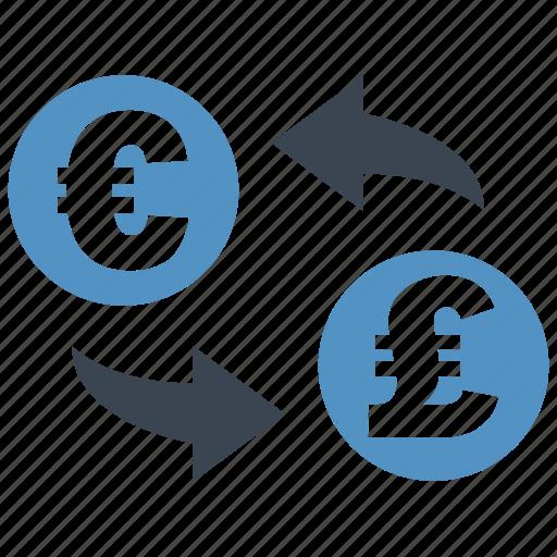 conversion, convert, euro, exchange, pound, rate, transfer icon