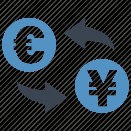 conversion, convert, euro, exchange, rate, transfer, yen icon