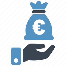 banking, cash, credit, currency, debit, euro, money icon