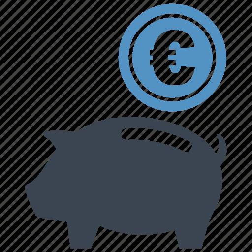 coin, euro, guardar, money box, pig, piggy, save, saving icon