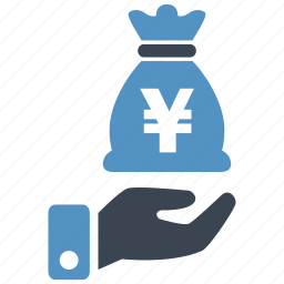 banking, cash, credit, currency, debit, money, yen icon