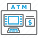 account, atm, cash, machine, money, withdraw, withdrawal icon