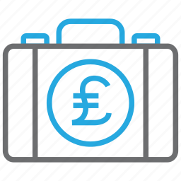 briefcase, business, buy, cash, pay, payment, pound icon
