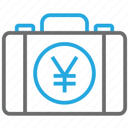briefcase, business, buy, cash, pay, payment, yen icon