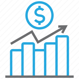 chart, diagram, dollar, graph, money, report, statistics icon