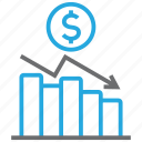 chart, diagram, dollar, graph, money, report, statistics icon