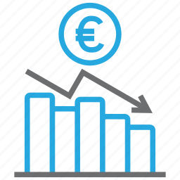 chart, diagram, euro, graph, money, report, statistics icon